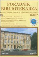 Poradnik Bibliotekarza 2007, nr 12