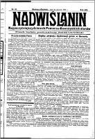 Nadwiślanin. Gazeta Ziemi Chełmińskiej, 1931.01.23 R. 13 nr 18