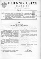Dziennik Ustaw Śląskich, 15.12.1938, [R. 17], nr 20