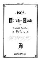Adressbuch der Provinzial Hauptstadt Posen; 1905