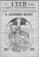 Lech. Gazeta Gnieźnieńska: codzienne pismo polityczne dla wszystkich stanów 1925.09.13 R.27 Nr212