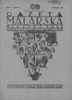 Gazeta Malarska: miesięcznik poświęcony malarstwu dekoracyjnemu, lakiernictwu i pozłotnictwu: organ Związku Cechów Malarskich i Lakierniczych 1930 kwiecień R.3 Nr4
