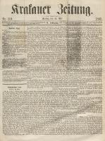 Krakauer Zeitung. , Jg.9, Nr. 119 (26 Mai 1865)