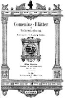 Comenius-Blätter für Volkserziehung, Mai - Juli 1903, XI Jahrgang, Nr. 5-7