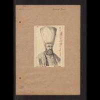 Portret Ismail Paşa w stroju z 1664 roku, według ryciny Frederika Bouttats - Lesser, Aleksander (1814-1884)
