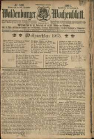Waldenburger Wochenblatt, Jg. 51, 1905, nr 103