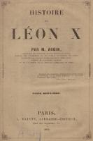 Histoire de Léon X. T. 2 - Audin, Jean-Marie-Vincent (1793-1851)