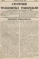 Lwowskie Wiadomości Parafialne : tygodnik poświęcony życiu religijnemu m. Lwowa. 1929, nr10