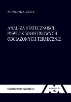Analiza stateczności powłok warstwowych obciążonych termicznie - Sabik, Agnieszka
