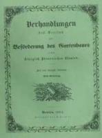 Verhandlungen des Vereines zur Beförderung des Gartenbaues in den Königlich Preussischen Staaten. 1852 Band 21 Lieferung 42