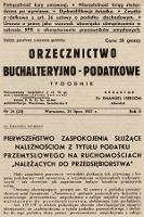 Orzecznictwo Buchalteryjno-Podatkowe : tygodnik. 1937, nr24