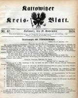 Kattowitzer Kreisblatt, 1874, nr47