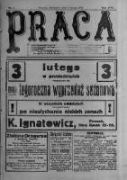 Praca: tygodnik polityczny i literacki, illustrowany. 1913.02.02 R.17 nr5