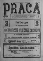 Praca: tygodnik polityczny i literacki, illustrowany. 1913.01.26 R.17 nr4
