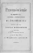 Przemówienie na pogrzebie ś.p. Korneli z Bieńkowskich Wiśniowskiej wdowy po ś.p. Teofilu Wiśniowskim, miane przez J.K. Turskiego w dniu 18. maja 1869 r. w Majdanie Górnym - Turski Jan Kanty (1832-1870)