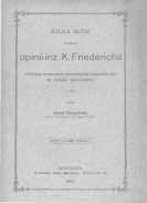 Kilka słów z powodu opinii inż. K. Friedricha dotyczącej projektu wodociągów krakowskich ze źródeł regulickich - Tuszyński Józef