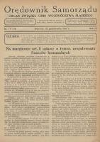 Orędownik Samorządu, 1933, R. 9, nr 17/18