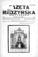 Gazeta Radzyńska R. 3 (1935) nr 10 - Powiatowa Rada Bezpartyjnego Bloku Współpracy z Rządem
