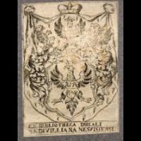 Ekslibris Biblioteki Radziwiłłów w Nieświeżu - nieznany