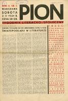 Pion : tygodnik literacko-społeczny 1934 R. II nr 5
