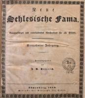 Neue Schlesische Fama, 1840, Jg. 14, No. 1