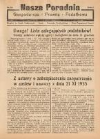 Nasza Poradnia, 1935, R. 2, nr 33