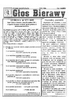 Głos Bierawy 1995. Wydanie nadzwyczajne. - Bierawa. Rada Gminy.