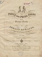 Piefke und Pufke-Polka für das Piano-Forte. 235tes Werk - Strauss, Johann (1825-1899)