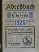 Adressbuch / Einwohnerbuch Kreis Grottkau O.S. einschl. der Stadt Ottmachau wie Gemeinden und Gutsbezirke aus dem Kreise. 1926