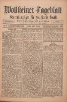 """Wollsteiner Tageblatt: Generalanzeiger für den Kreis Bomst: mit der Gratis-Beilage: """"Blätter und Blüten"""" 1911.01.06 Nr5"""