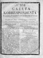 Gazeta Korrespondenta Warszawskiego i Zagranicznego 1828, Nr 284