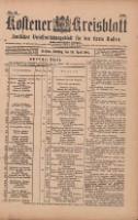 Kostener Kreisblatt: amtliches Veröffentlichungsblatt für den Kreis Kosten 1901.04.30 Jg.36 Nr35