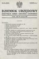 Dziennik Urzędowy Kuratorjum Okręgu Szkolnego Lwowskiego. 1931, nr6-7