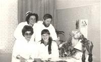 1981, Trzciel. Pracownicy Ośrodka Zdrowia - Klorek Jan