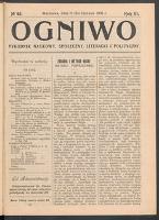 Ogniwo : tygodnik naukowy, społeczny, literacki i polityczny. R 3, 1905 nr 25 (11 [24] VI)