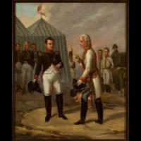 Napoleon i Franciszek II po bitwie pod Austerlitz - Stankiewicz, Aleksander (1824-1892) (?)
