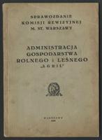 """Administracja Gospodarstwa Rolnego i Leśnego """"Agril"""" - Komisja Rewizyjna m.st. Warszawy"""