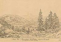 Ansicht des Riesengebirges bei Drehhaus ohnweit Buchwald - Tittel, Friedrich August (1782-1816)