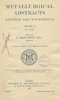 Metallurgical Abstracts : general and non-ferrous, Vol. 3, Part 1