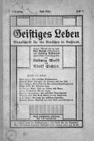 Geistiges Leben. Monatschrift fur die Destchen In Russland lipiec 1913 nr 7