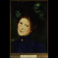 """Studium portretowe żony, szkic do """"Dziwnego ogrodu"""" - Mehoffer, Józef (1869-1946)"""