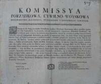 Uniwersał Komisji Porządkowej Cywilno-Wojskowej woj. Kaliskiego, powiatów pyzdrskiego i konińskiego