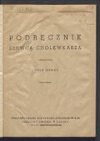 Podręcznik szewca-cholewkarza - Durek, Józef. Autor